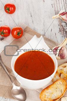 Tomato soup background.