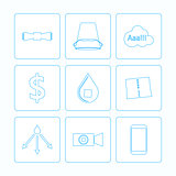 Contour vector icons for Ice Bucket Challenge