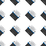 Vector background for office equipment. Typewriter