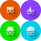 Colored abstract vector icons for characters
