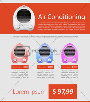 Flat vector minimalist template business design. Heater.
