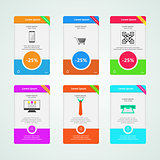 Colored vector banners for e-Marketing