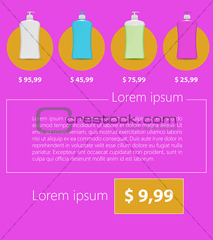 Flat vector minimalist template business design. Liquid Soap.