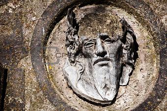 Broken face of Jesus Christ