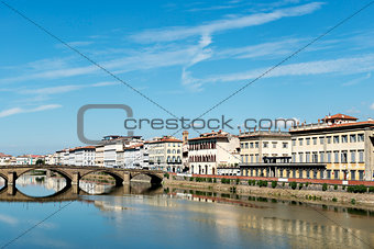 Houses and river Arno Florence