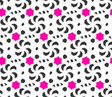 3d ornament with black and pink on white background