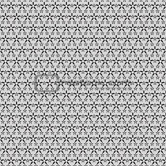 Black small and big stars on gray pattern