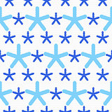 Blue snowflakes textured with gray dots