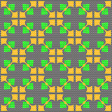 Dot textured pattern with orange and bright green