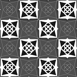 Geometrical Arabian ornament black and white with slim wire