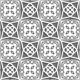 Geometrical Arabian ornament with gray and white