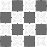 Geometrical Arabian ornament with shades of gray