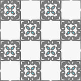 Geometrical Arabian ornament with white and blue