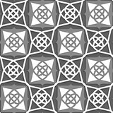Geometrical Arabian ornament with white and grays