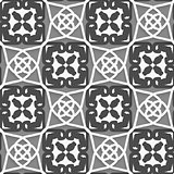 Geometrical Arabian ornament with white dark and light gray