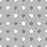 Geometrical ornament with gray and white squares on gray