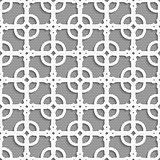 Geometrical ornament with white dots texture