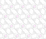 White 3d ornament with pink hexagons