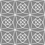 White geometrical ornament on gray