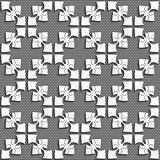 White geometrical ornament on textured dark gray