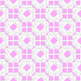 White geometrical ornament textured with pink