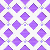 White geometrical ornament with white net and dots purple textur