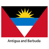 Flag  of the country  antigua and barbuda. Vector illustration.