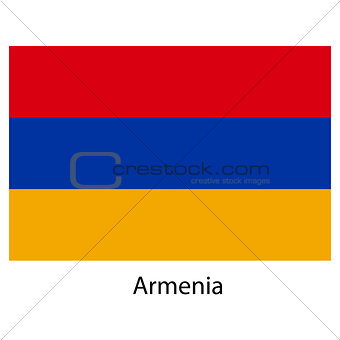 Flag  of the country  armenia. Vector illustration.