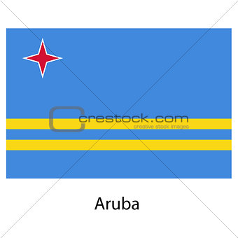 Flag  of the country  aruba. Vector illustration.