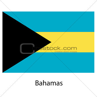 Flag  of the country  bahamas. Vector illustration.
