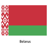 Flag  of the country  belarus. Vector illustration.