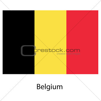 Flag  of the country  belgium. Vector illustration.