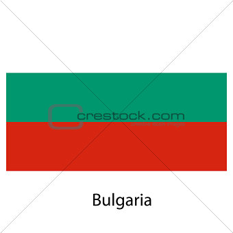 Flag  of the country  bulgaria. Vector illustration.