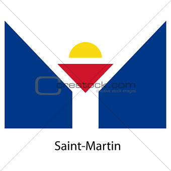 Flag  of the country  saint martin. Vector illustration.