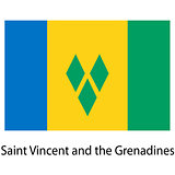 Flag  of the country  saint vincent and grenadines. Vector illus