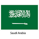 Flag  of the country  saudi arabia. Vector illustration.