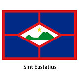 Flag  of the country  sint eustatius. Vector illustration.