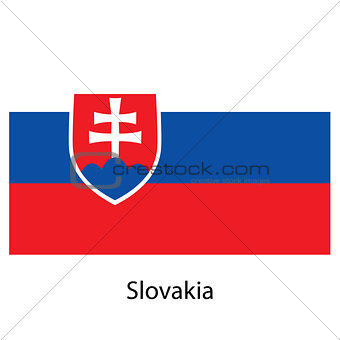 Flag  of the country  slovakia. Vector illustration.