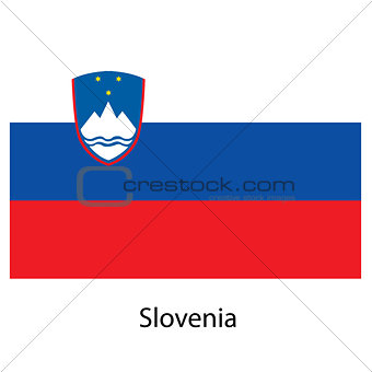 Flag  of the country  slovenia. Vector illustration.