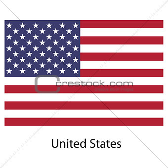 Flag  country  united states of america. Vector illustration.