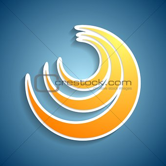 Abstract bright design element