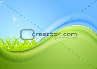 Bright summer wavy background