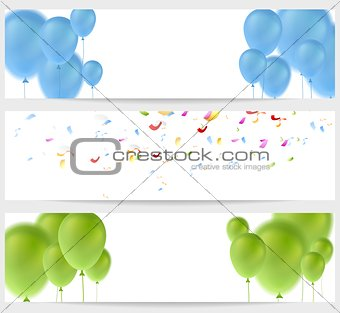 Abstract greeting banners