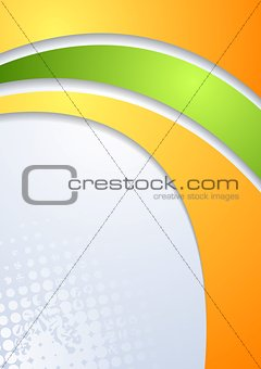Abstract bright corporate wavy background