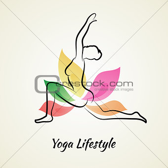Beautiful woman doing yoga