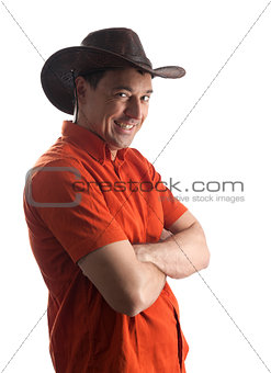 man in a cowboy hat