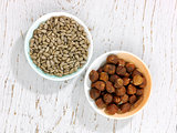 Sunflower seeds and Hazlenuts