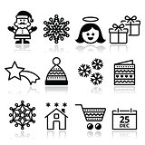 Christmas, Xmas celebrate icons set