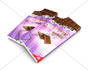 3d chocolate bars