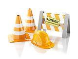 Under construction concept. 3d illustration